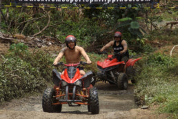 One of the hurt pumping activities in Puerto galera is riding our ATV in our adventure park off-read track.