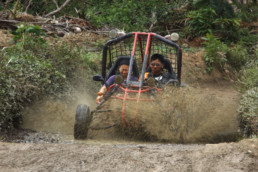 Mud Kart in off-road track of Extreme Sports Philippines Adventure Park in Puerto Galera